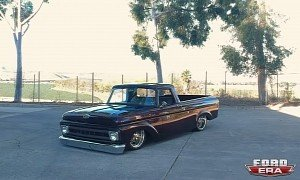 Low-Riding 1961 Ford F-100 Unibody Hides Cool Surprises Below the Chopped Top