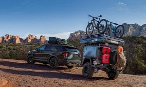 Insane Overlanding Trailer Hooked Up to the 2021 Explorer Timberline Costs $27k