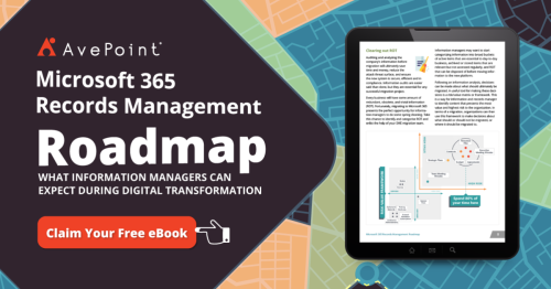 Microsoft 365 Records Management Roadmap   AvePoint AU