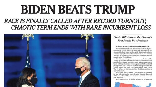 Here's how newspapers around the world reported Biden's win
