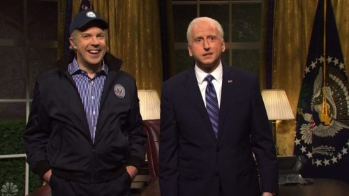 """Jason Sudeikis returns as """"ghost from Biden's past"""" in """"SNL"""" cold open"""
