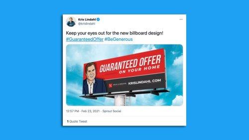 Minnesotans can expect a new Kris Lindahl billboard