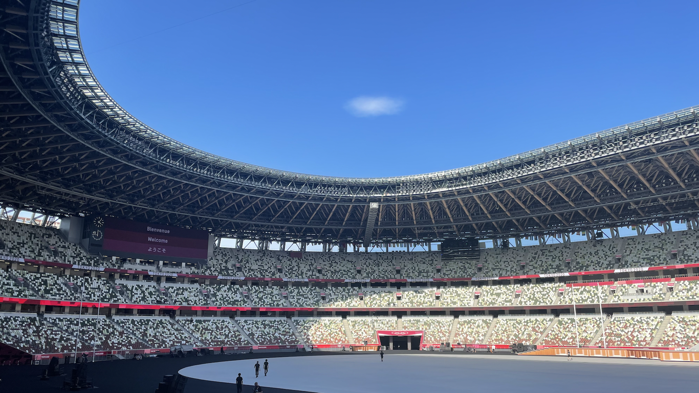 What it's like inside the opening ceremony of the Tokyo Olympics