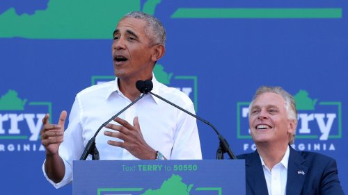 """Obama stumps for McAuliffe, urges Virginians not """"to go back to the chaos"""""""