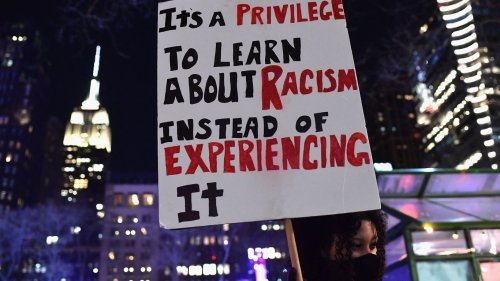 Teachers across the U.S. protest laws restricting racism lessons