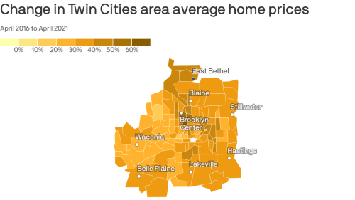 Mapping where Twin Cities home prices are rising fastest