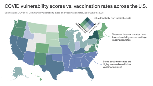 States most vulnerable to COVID are also some of the least vaccinated