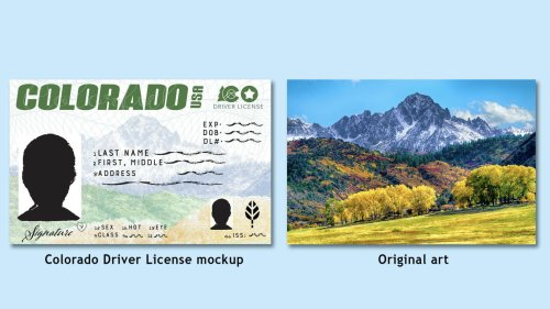 Colorado's new driver's license features contest-winning mountainscapes