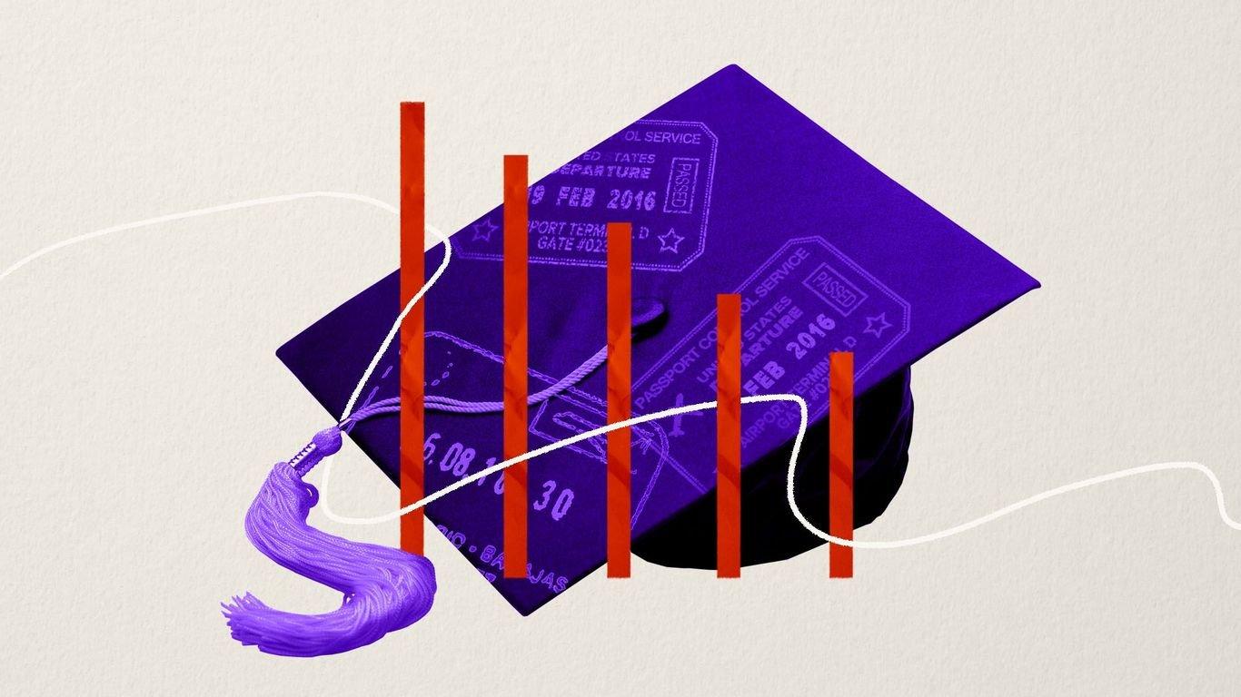College international student enrollments plunge