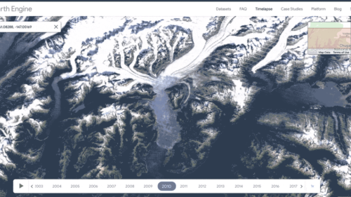 "Google Earth rolls out ""Timelapse"" features showing climate change"