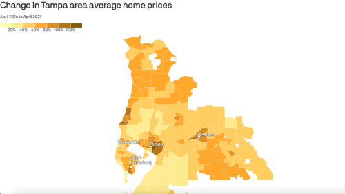 The crazy spike in Tampa Bay home prices, mapped