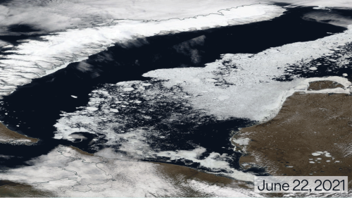 Arctic heat roasts Finland and Russia, melts sea ice