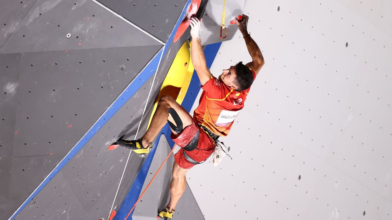Spain's Alberto Ginés López wins first-ever Olympic gold in sport climbing