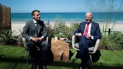 """Biden """"definitely"""" brings U.S. back into """"club,"""" Macron says at G7 summit"""