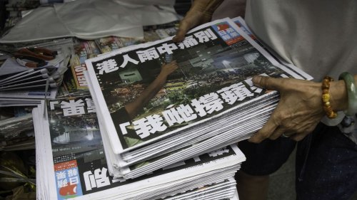 Hong Kong's last pro-democracy paper sells all 1 million copies of final edition