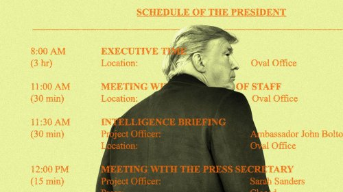 """Scoop: Insider leaks Trump's """"Executive Time""""-filled private schedules"""