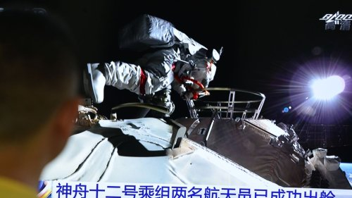 Chinese astronauts take first spacewalk at new orbital station