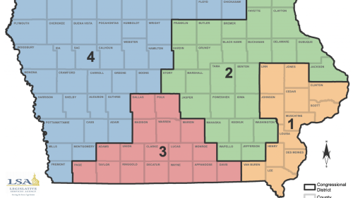Democrats approve of Iowa's proposed redistricting map