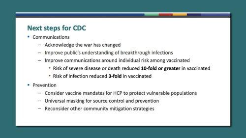 "Internal CDC presentation warns: ""The war has changed"""