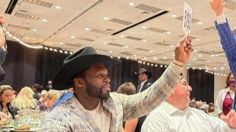 50 Cent Bid a Bottle of Wine for $175000 in Texas and still lost