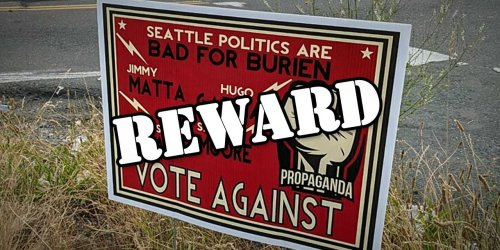 Burien City Council candidate John White offering $10,000 reward to find source of 'Vote Against' signs - The B-Town (Burien) Blog