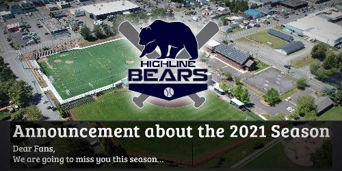 Good News: Highline Bears will play ball this summer; Bad News: fans won't be allowed in stadium