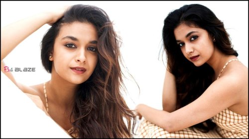 Keerthy Suresh's new glamorous photos rooks on the internet