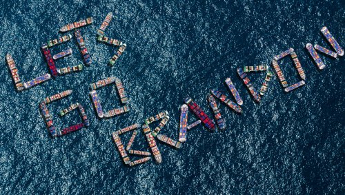 Backed-Up Cargo Ships Positioned To Spell Out 'Let's Go Brandon'