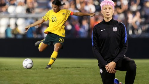 American Women's Soccer Team Defeated After Opponents Play U.S. National Anthem During Game Forcing Them To Kneel The Whole Time