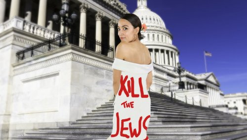 Powerful: AOC Shows Up To Iron Dome Vote In Dress Reading 'Kill The Jews'