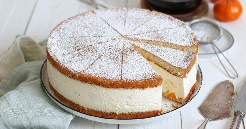 Classic German Quark Cream Cake with Mandarin Oranges | Bake to the roots