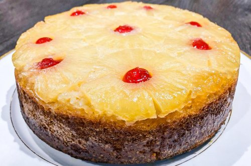 Pineapple Upside Down Cake With A Boozy Twist