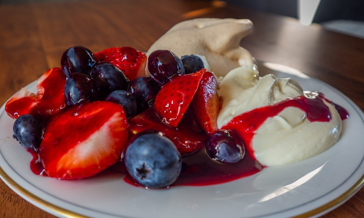 Summer Fruits With Meringue, Fruit Coulis and Rose Cream | BaldHiker