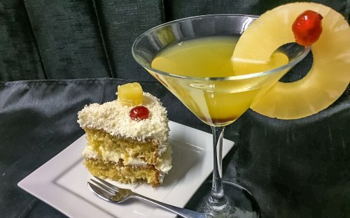 Boozy Pina Colada Cake | BaldHiker