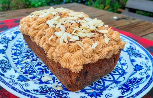 Almond Cake with Salted Caramel Frosting