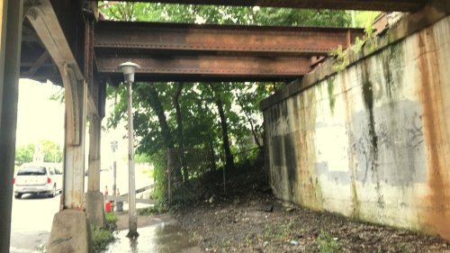 Follow-up: CSX daylights part of North Avenue bridge, but water leak persists   Baltimore Brew