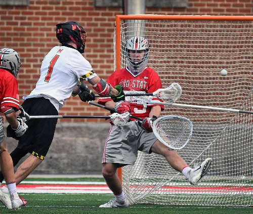 Goalie Logan McNaney steals the show as No. 1 Maryland men's lacrosse routs No. 12 Ohio State, 18-8, to win Big Ten title