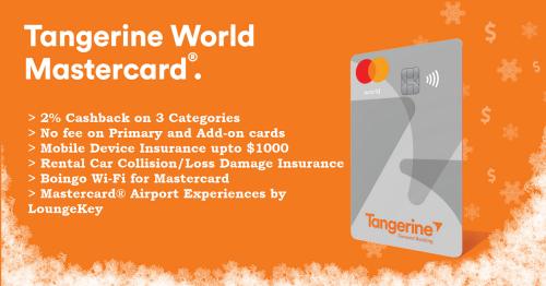 Tangerine World Mastercard credit card