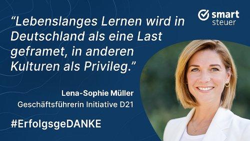 """Lena-Sophie Müller: """"Lebenslanges Lernen ist in Deutschland eine Last"""""""
