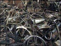 BBC NEWS | UK | England | Fire destroys motorbike collection