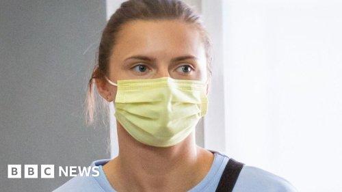 Belarus sprinter Krystina Timanovskaya arrives in Poland