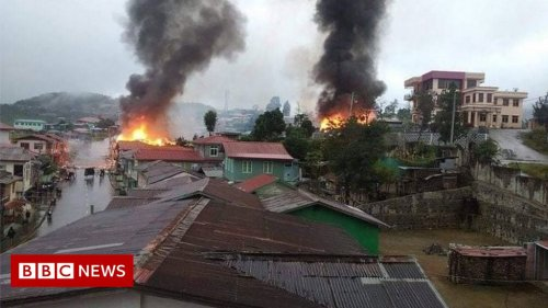 Myanmar: Whole town flees amid fierce fighting
