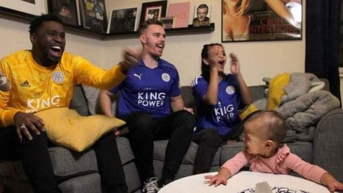 What did football fandom in living rooms look like?