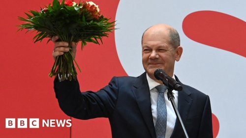 Germany elections: Centre-left claim narrow win over Merkel's party