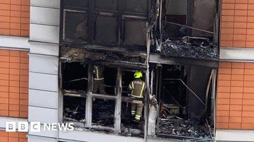 Poplar fire: London tower block blaze leaves two men in hospital