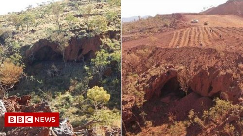 Juukan Gorge: Rio Tinto investors in pay revolt over sacred cave blast