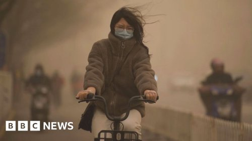 Apocalyptic skies as Beijing hit by worst sandstorm in a decade