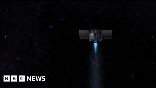 Nasa craft carrying 4.5bn-year-old asteroid dust begins long trek home