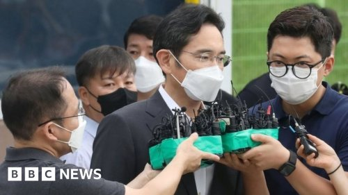 Lee Jae-yong: Samsung heir released from prison on parole