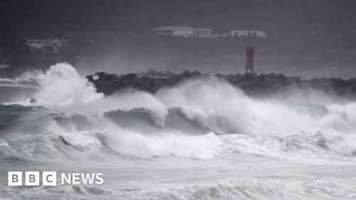 Typhoon Haishen batters South Korea after slamming Japan
